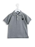Comme Des Garçons Play Kids Comme Des Garons Play Kids heart patch polo shirt