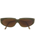Moschino Pre-Owned slim winged oval sunglasses