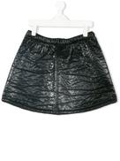 Andorine textured patent mini skirt