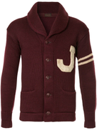 Fake Alpha Vintage J knitted shawl cardigan