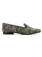 Blue Bird Shoes leather and cotton jacquard loafers