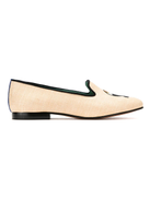 Blue Bird Shoes leather and straw Tucano loafers
