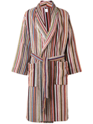 Paul Smith striped belted bathrobe