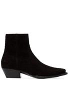 Saint Laurent Lukas 40mm cowboy ankle boots