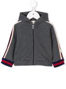 Gucci Kids full-zipped hooded jacket