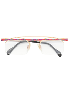 Cazal contrast square glasses