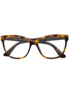 Gucci Eyewear crystal-embellished square-frame glasses
