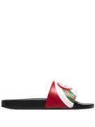 Gucci Pursuit Web-stripe slides