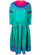Kenzo Pre-Owned colour block silk dress
