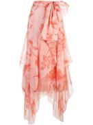 Johanna Ortiz asymmetric midi skirt
