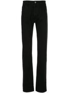 Raf Simons laminated zip detail jeans