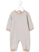 Fendi Kids FF logo knit babygrow