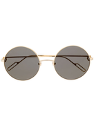 Cartier gold rounded sunglasses