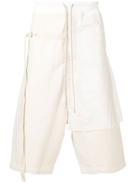 Rick Owens DRKSHDW layered track shorts