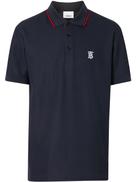 Burberry Icon Stripe placket piqu polo shirt
