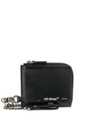 Off-White chain-strap logo wallet