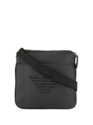 Emporio Armani engraved logo crossbody bag