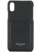 Saint Laurent iPhone XS cardholder case