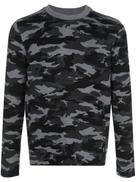 Aztech Mountain camouflage crew neck jumper