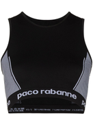 Paco Rabanne logo-stamped seamless sports bra