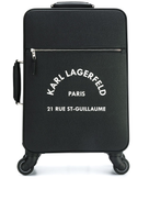 Karl Lagerfeld logo suitcase