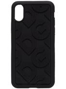 دولتشي آند غابانا حقيبة Dolce & Gabbana DG منقوشة لجهاز iPhone X XS