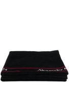 Alexander McQueen jacquard logo beach towel
