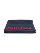 Emporio Armani Kids woven logo towel