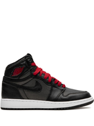 Jordan Kids Air Jordan 1 High Retro GS black satin gym red