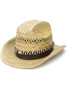 Saint Laurent braided ribbon fedora hat