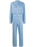 THE ANDAMANE patch-pocket belted jumsuit