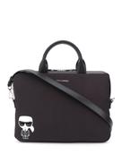 Karl Lagerfeld logo plaque laptop bag