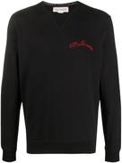 Alexander McQueen embroidered-logo sweatshirt