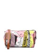 Emilio Pucci sketch print make up bag