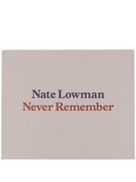 Rizzoli Nate Lowman Never Remember Book