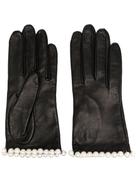 Manokhi pearl-embellished short gloves
