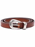 Tagliatore embellished-buckle leather belt