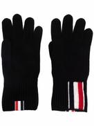Thom Browne RWB-stripe merino wool gloves