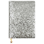 Go Stationery A5 Notebook Silver Sequin