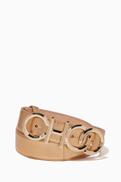 Jimmy Choo Choo Logo Nappa Leather Belt