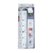 Universal Extension Socket 4way 3Mtr With 2USB UN2024U