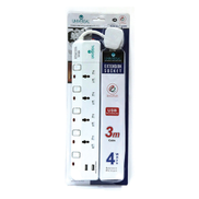Universal Extension 4Way 3Mtr With 2USB UN4025NU