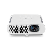 BenQ GS1 Portable Projector,Cable Free, Splash Proof, 60 screen 1 metre, with battery, Short Throw, DLP, 720p, 100,000:1 High Contrast Ratio, HDMI,White