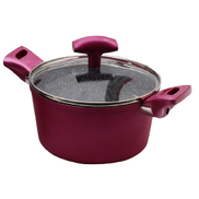 Pedrini Black Marble Dutch Oven 26cm