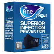 Fine Guard N95 Adult Face Mask With Livinguard Technology Infection Prevention Size Large 1pc