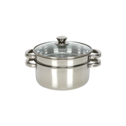 Chefline Stainless Steel Steamer 20cm 2 Layers SNPIND