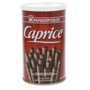 Papadopoulos Caprice Wafer Rolls Hazelnut And Cocoa Cream 115g