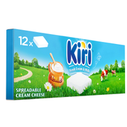 Kiri Spreadable Cream Cheese Squares 12 Portions 216g