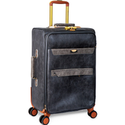 Beelite 4 Wheel Leather Trolley 27inch Assorted Color