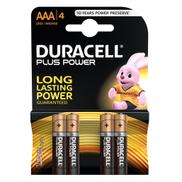 Duracell Plus Power Type AAA Alkaline Batteries 4pcs